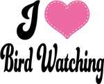 I Heart Bird Watching T-shirts and Gifts