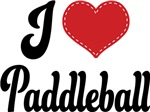 I Heart Paddleball T-shirts and Gifts