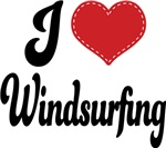 I Heart Wind Surfing T-shirts and Gifts