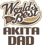 Akita Dad (Worlds Best) T-shirts