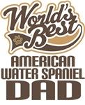 American Water Spaniel Dad (Worlds Best) T-shirts