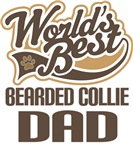 Bearded Collie Dad (Worlds Best) T-shirts