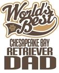 Chesapeake Bay Retriever Dad (Worlds Best) Tshirts