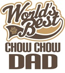 Chow Chow Dad (Worlds Best) T-shirts