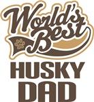 Husky Dad (Worlds Best) T-shirts