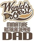 Miniature Australian Shepherd Dad Worlds Best Tees