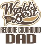 Redbone Coonhound Dad (Worlds Best) T-shirts