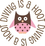 DIVING IS A HOOT OWL TEES AND GIFTS