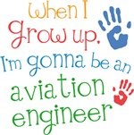 Future Aviation Engineer Kids T-shirts