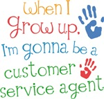 Future Customer Service Agent Kids T-shirts