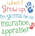 Future Insurance Appraiser Kids T-shirts