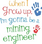 Future Mining Engineer Kids T-shirts