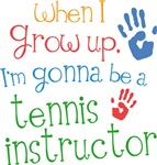 Future Tennis Instructor Kids T-shirts