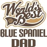 Blue Spaniel Dad (Worlds Best) T-shirts