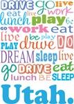 EAT SLEEP LIVE DREAM Utah T-SHIRTS