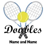 Personalized Tennis Doubles T-shirts and Gifts