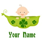 Personalized St Patrick's Baby In Pea Pod