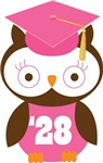 Owl 2028 Class Grad Gifts and Shirts