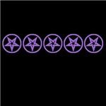 Purple So Below Pentagram Pentacle