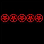 Red So Below Pentagram Pentacle