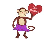 Love Monkey Girl Heart
