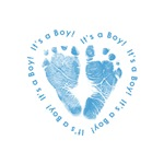 It's a Boy! Heart Feet