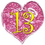 Shabby Chic Heart 13th Birthday Buttons & Gifts 4