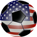 American Flag Soccer Ball T-Shirts & Gifts!