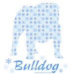 Blue Snowflake Bulldog