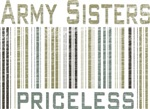 Army Sisters Priceless Barcode T-shirts & Gifts