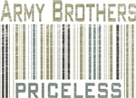 Army Brothers Priceless Barcode T-shirts & Gifts
