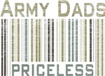 Army Dads Priceless Barcode T-shirts & Gifts