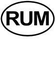RUM Booze Alcohol Drink Oval T-shirts & Gifts