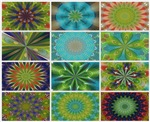 Color Mandala Kaleidoscope Calendar