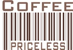Coffee Priceless Barcode Tee shirts & Gifts