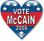 Vote John McCain 2008 Political T-shirts & Gifts