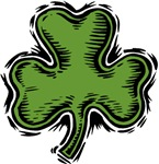 Woodcut Shamrock T-shirts & Gifts