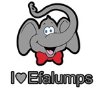 I Love heart Efalumps elephant T-shirts & Gifts