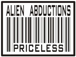 Alien Abduction Priceless Barcode T-shirts & Gifts