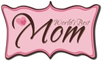 Pink World's Best Mom Plaque T-shirts & Gifts