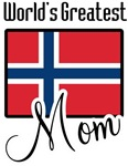 World's Greatest Norwegian Mom T-shirts & Gifts