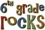 6th Grade Rocks Sixth School T-shirts Gifts