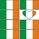 Ireland Heart Flags t-shirts gifts