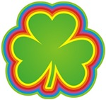 Rainbow Shamrock t-shirts gifts