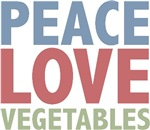 Peace Love Vegetables Vegetarian T-shirts gifts