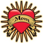 Mom Heart Tattoo Art T-shirts Gifts