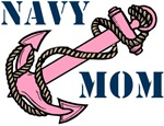 Navy Mom Pink Anchor T-shirts Gifts