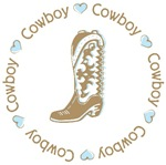 Sweet Cowboy Blue Boot T-shirts Gifts