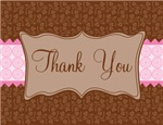 Brown and Pink Elegant Thank You Notes Gifts