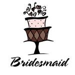 Bridesmaid Pink Cake T-shirts Gifts